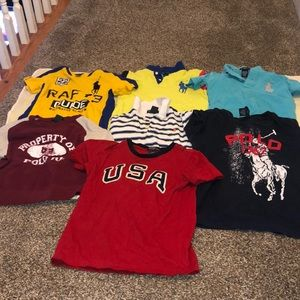 Preowned Polo Ralph Lauren boy's bundle tops age 6